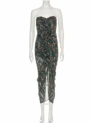Veronica Beard Silk Long Dress Green