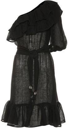 Lisa Marie Fernandez Arden one-shoulder linen-blend dress