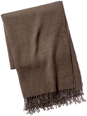 A & R Cashmere Cashmere & Wool Blend Multi-Weave Throw