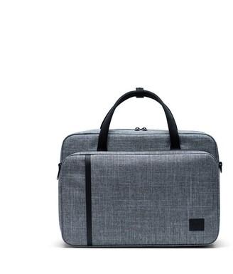 "Herschel Gibson 15"" Laptop Messenger Bag Raven Crosshatch"