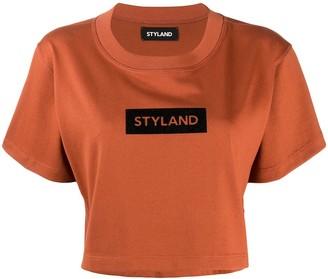 Styland crop logo T-shirt