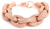 BaubleBar Rose Pavé Links Bracelet