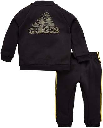 adidas Infant Holiday Tracksuit - Black/Gold