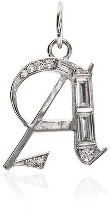 Foundrae A Initial diamond charm