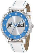 Just Cavalli Women's R7251127505 Huge White calfskin band watch.