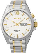Seiko Smy161p1 Core Kinetic Two Tone Bracelet Strap Watch, Silver/gold