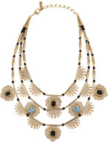 Etro Gold-tone crystal multistrand necklace