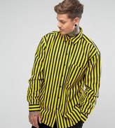 Reclaimed Vintage Inspired Oversized Shirt In Stripe