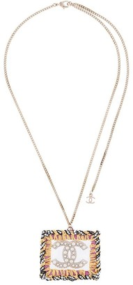 Chanel Pre Owned 2014 woven CC necklace