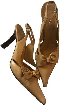 Chanel Camel Leather Heels