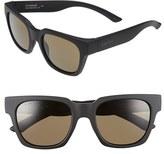 Smith Optics Women's 'Comstock' 52Mm Rectangular Sunglasses - Matte Black/ Grey Green Polar