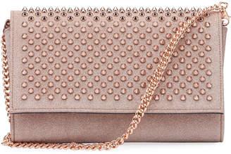 Christian Louboutin Paloma Mini Glitter Spikes Clutch Bag