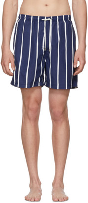 Solid And Striped Solid and Striped Blue and White Slate Bondi Stripe Classic Shorts