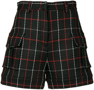 MSGM Stitch-Detail Fitted Shorts