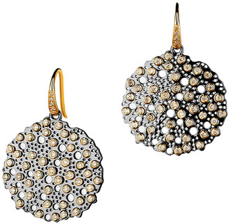 Syna Two-Tone Drop Earrings with Diamonds