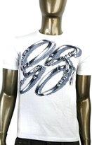 Gucci Men's GG Logo Top Horsebit Graphic Belt T Shirt 337660 (XL, / 9053)
