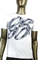 Gucci Men's GG Logo Top Horsebit Graphic Belt T Shirt 337660 (XL, )