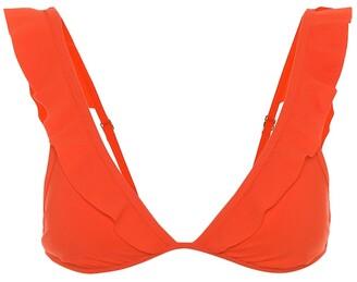Tory Burch Flounce bikini top