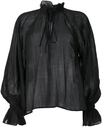 Karen Walker Basalt voile blouse