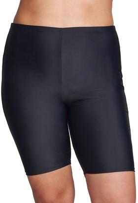Plus Size Mazu Swim Long Hip-Minimizer Swim Shorts