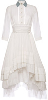 Natasha Zinko White Cotton Shirtdress with Open Back