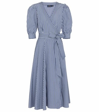 Polo Ralph Lauren Gingham cotton midi wrap dress