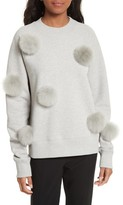 Tibi Women's Pompom Sweatshirt