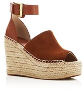 Marc Fisher Women's Adalyne Ankle Strap Espadrille Platform Wedge Sandals