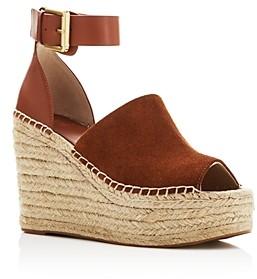 Marc Fisher Women's Adalyn Ankle Strap Espadrille Platform Wedge Sandals