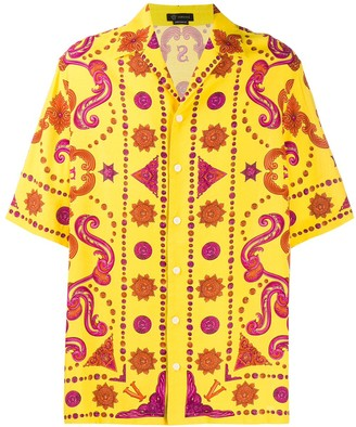 Versace Barocco Western short-sleeved shirt