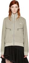 Off-White Taupe Slim Track Jacket