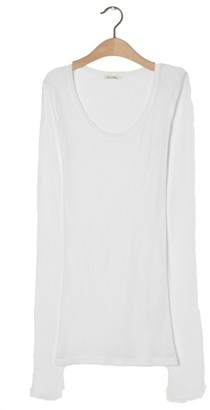 American Vintage White Long Sleeves Massachusetts T Shirt - small