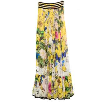 Roberto Cavalli Yellow Silk Skirts