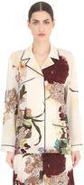 Valentino Kimono Printed Silk Crepe De Chine Shirt