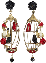 Of Rare Origin Lovebirds Earrings - Black Multicolor