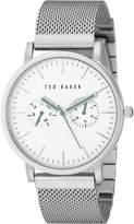 Ted Baker Men's TE3037 Smart Casual Case Multi-Function Mesh Strap Watch