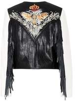 Etoile Isabel Marant Isabel Marant, Étoile Kirk embroidered leather jacket