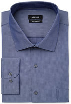 Alfani BLACK Men's Big and Tall Fitted Fit Performance Blue Texture Dress Shirt, Only at Macy's