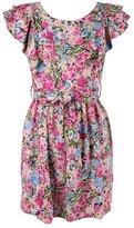 Flutter Capsleeve Floral Dress