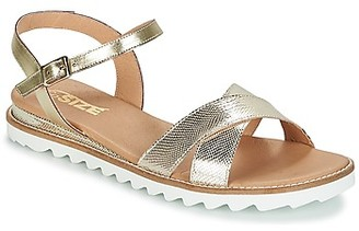 So Size TENIPO women's Sandals in Gold