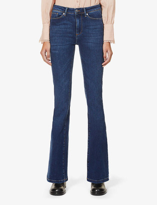 Tomorrow Albert flared high-rise organic cotton and recycled polyester-blend jeans