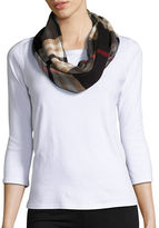 Lord & Taylor Looped Plaid Scarf
