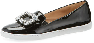 Sesto Meucci Frieda Ornamented Patent Sneakers, Black