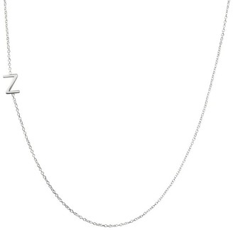 Mark And Graham Maya Brenner Asymmetrical Initial Necklace
