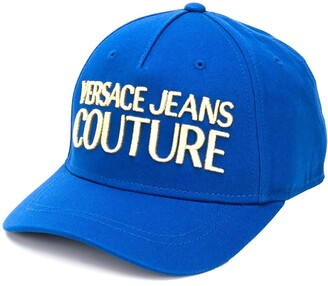 Versace logo-embroidered snap-back canvas cap