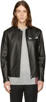 Fendi Black Leather Bag Bugs Jacket