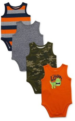Garanimals Baby Boy Tank Bodysuit Multi-Pack, 4pc