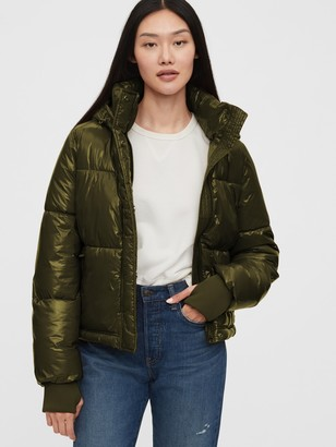 Gap Upcycled Cropped Midweight Puffer Jacket