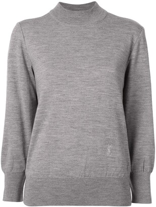 Saint Laurent Pre-Owned logo embroidered jumper