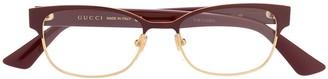 Gucci Double G rectangular-frame glasses